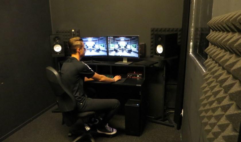 De studio werd in korte tijd gerealiseerd. (Foto: Yvonne Vogel)