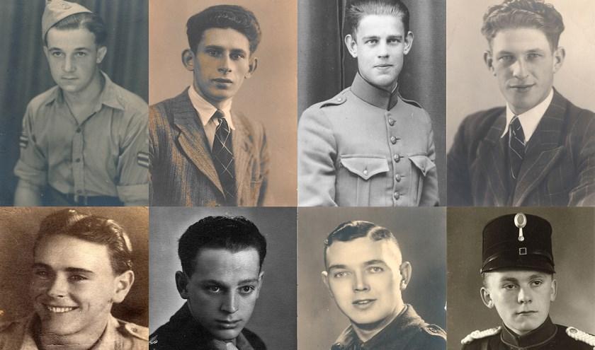 Een paar portretten van Brabantse gesneuvelden uit de nieuwe digitale Eregalerij. Dat hun offers nooit worden vergeten (foto: BHIC)