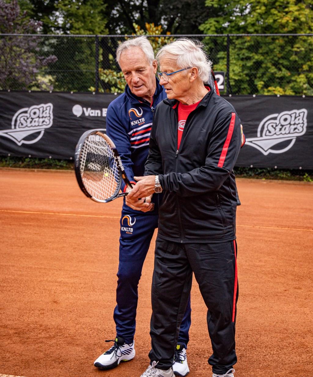 OldStars-tennis is speciaal voor de ouderen die graag willen blijven tennissen. Foto: Henk Koster. Foto: Henk Koster © DPG Media