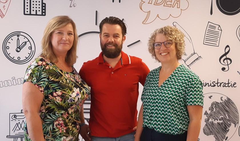 Van links naar rechts: Leona Winter, Matteo Kooman, Desiree Ebbers.(foto: Vilente)