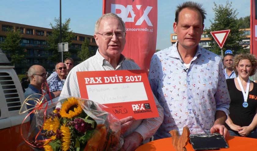 Twee jaar geleden was de landelijk ambassadeur van Vrede, Vincent Bijlo, in Vlaardingen om de Vredesweek te openen. Foto: Peter Spek