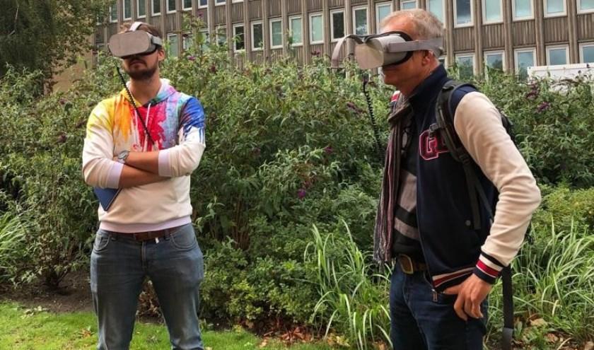 Met een VR konden bezoekers via een 360 graden film dwars door de raffinaderij heen kijken.