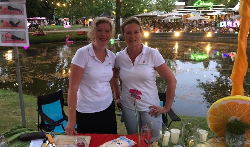 Irene en Jannet tijdens Ladies Event Prins Bernardplantsoen. Foto: Sandra