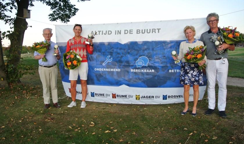 De trotse winnaars van de Zevenaar Golf Cup 2019. Dit jaar werd de tiende editie gehouden op de baan van de Keppelse Golfclub. (foto: PR)