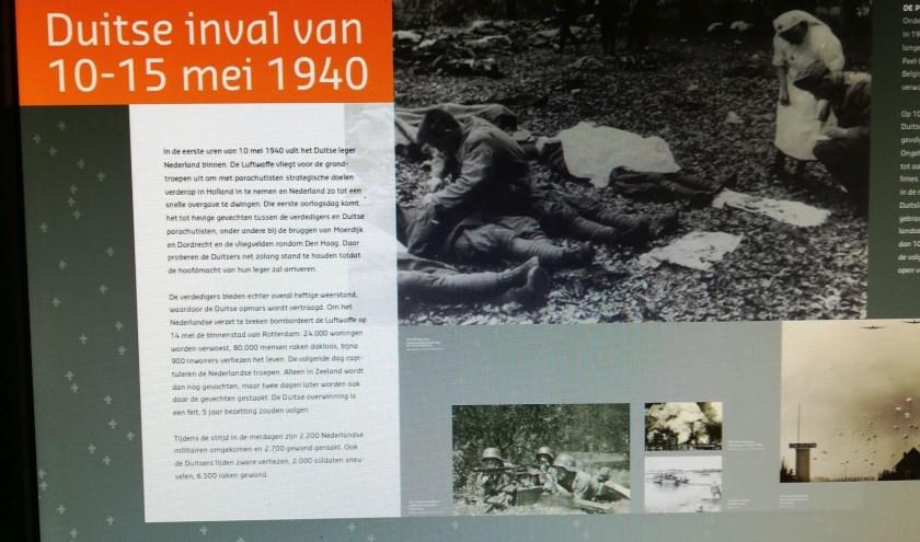 Een deel van het drieluik dat het verhaal van de Duitse inval verteld.