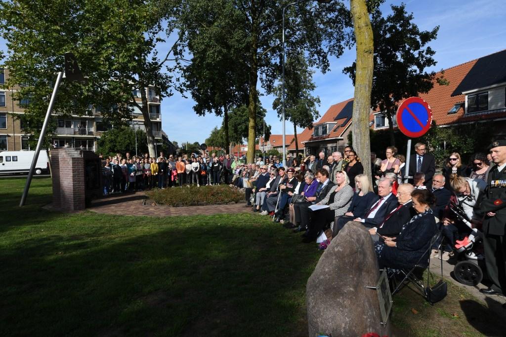 Sfeervolle herdenking Parkwegmonument. Foto: Bert Vos © DPG Media