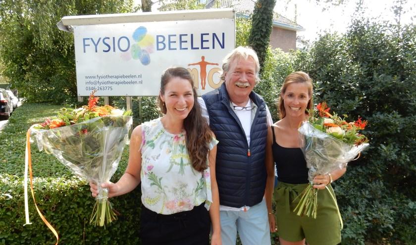 Fysiotherapeut Rob Beelen en zijn opvolgers. Eigen foto