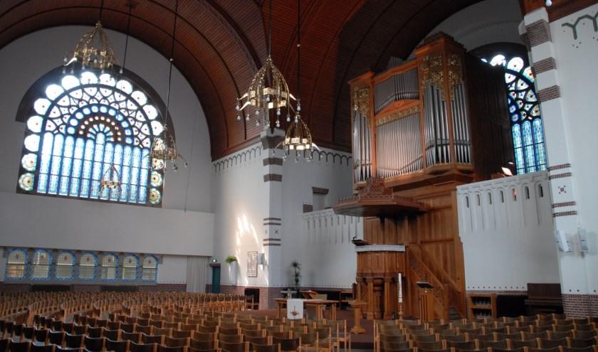 Een miniconcert geven op het wereldberoemde Steinmeyer orgel.
