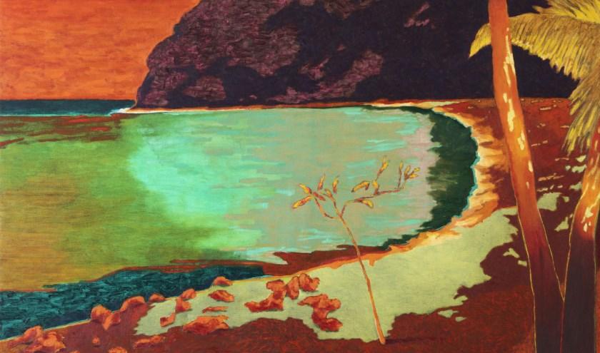 Eén van de werken in  de nieuwe serie 'Gedroomde paradijzen' van Jeroen Krabbé.