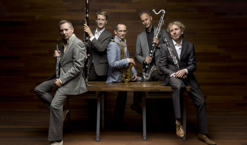 Het Calefax Reed Quintet is een van de ensembles die als gevestigde sterren terugkeren in de concertreeks van het eeuwfeest. (Foto: Marco Borggreve)