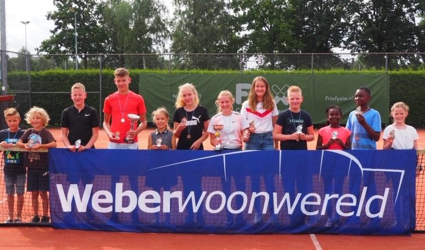 TC Elburg viert zaterdag het 50-jarig bestaan. Afgelopen weekend werden de clubkampioenschappen bij de jeugd gehouden. (Foto: Diana Vestering)