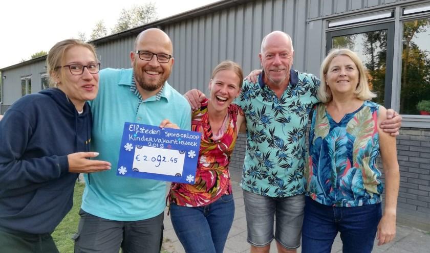 De vrijwilligers die de vakantieweek organiseerden.