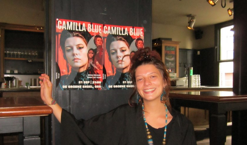 Op zaterdag 21 september om 21.00 uur treedt Camilla Blue op in de Groene Engel voor de release van de single When I get home van haar tweede album Yellow. Foto: Dick Hubertus