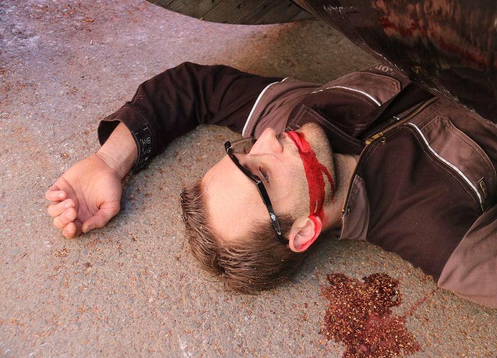 Maarnse brandweeracteur William Methorst raakte 'bekneld en ernstig gewond' onder een nabije haspelkar.  © DPG Media