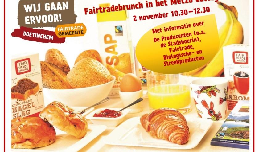 Flyer voor de Fairtrade Brunch 2019