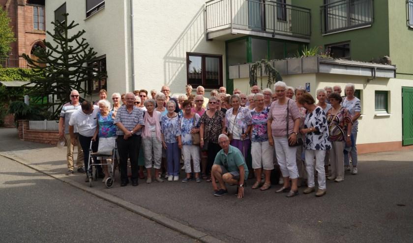De deelnemers aan reis Senioren Belangen