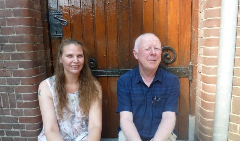 Kersverse coördinatoren Nicky Koops en Marijn Pikaar bij Inloophuis St.Marten