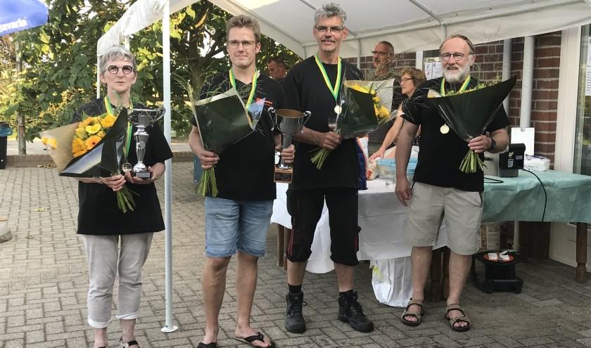 Winnaars bij het bedrijven- en verenigingenschieten in Groeningen.