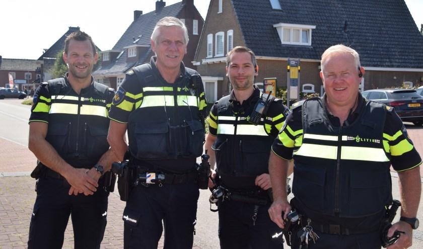 Vlnr: Haiko Peters, Martin de Bruin, Jeroen Nicolasen en Willy Hagen. (Foto: Hanneke Hoefnagel)