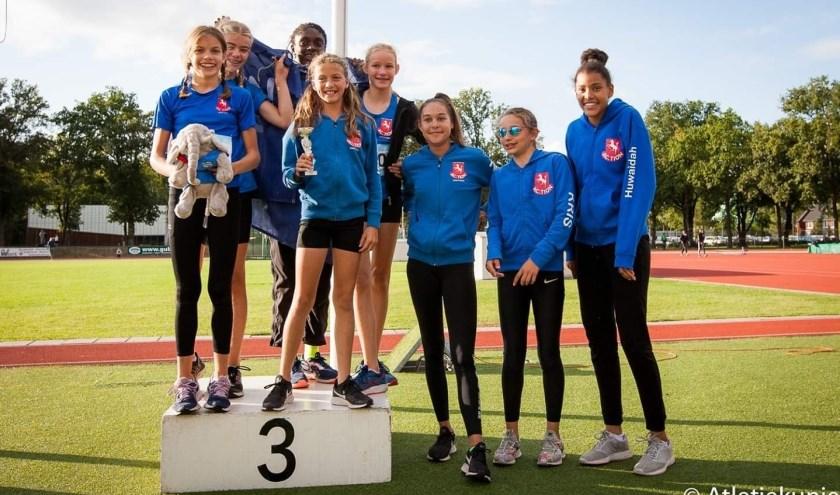 De Meisjes D-ploeg van AC Tion werd derde van Nederland.