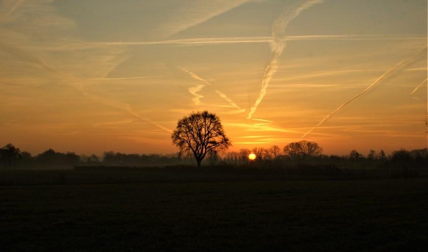 Een prachtige zonsopkomst bij de Groene Grens.