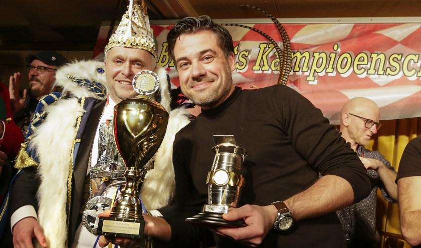 Brabants Kampioen Tonpraten Dirk Kouwenberg. Hij won ook de publieksprijs. Foto: Jurgen van Hoof