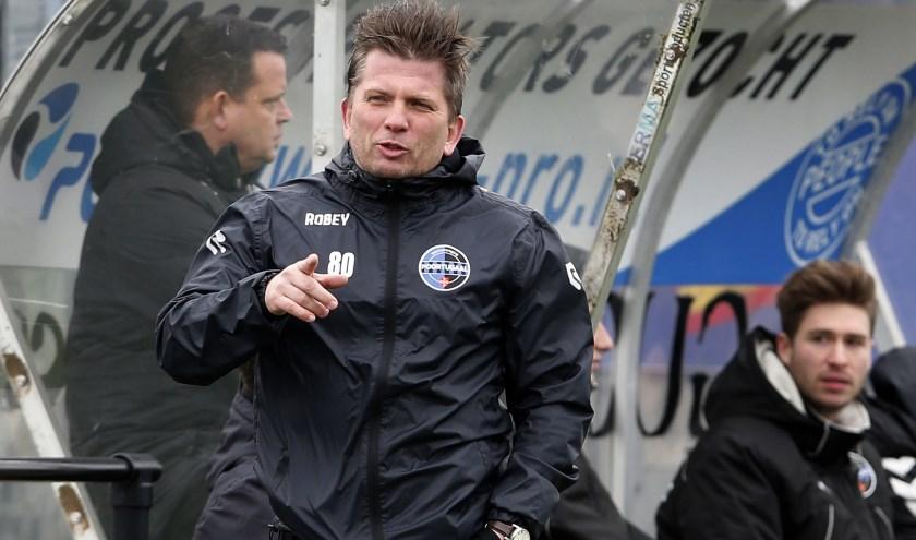 Marco van Rijn in zijn periode als trainer van SV Poortugaal (archieffoto: John de Pater)