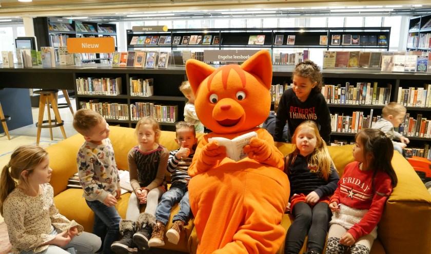 Tijdens de allereerste editie van het Prentenboekenfestival kwam niemand minder dan Dikke Dik voorlezen! (foto: PR)