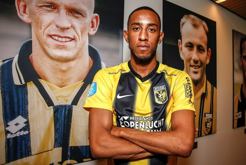 Joshua Brenet is de rest van dit seizoen Vitessenaar. De vleugelverdediger komt op huurbasis over van TSG 1899 Hoffenheim. Foto: Remko Kool © DPG Media