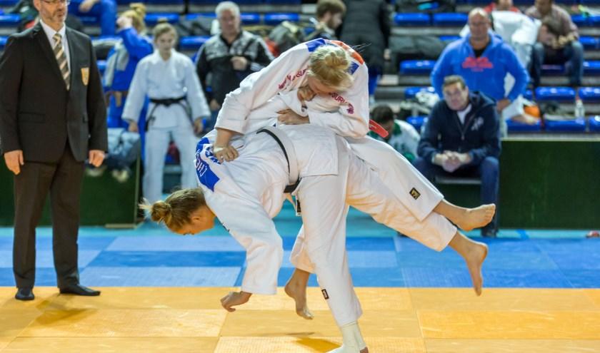 Christina Heck eerste op internationaal judotoernooi.