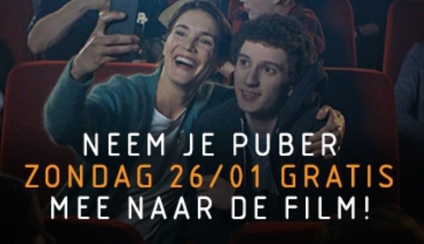 Neem je puber gratis mee naar de film.
