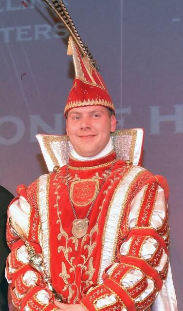 Prins Bjorn de Eerste regeert tijdens het aanstaande carnaval over Herwen. (foto: PR)