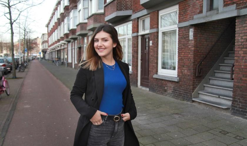 Verhuizen naar Den Haag vindt Sara de beste beslissing die ze samen met haar vriend heeft gemaakt (Foto: Peter van Zetten)