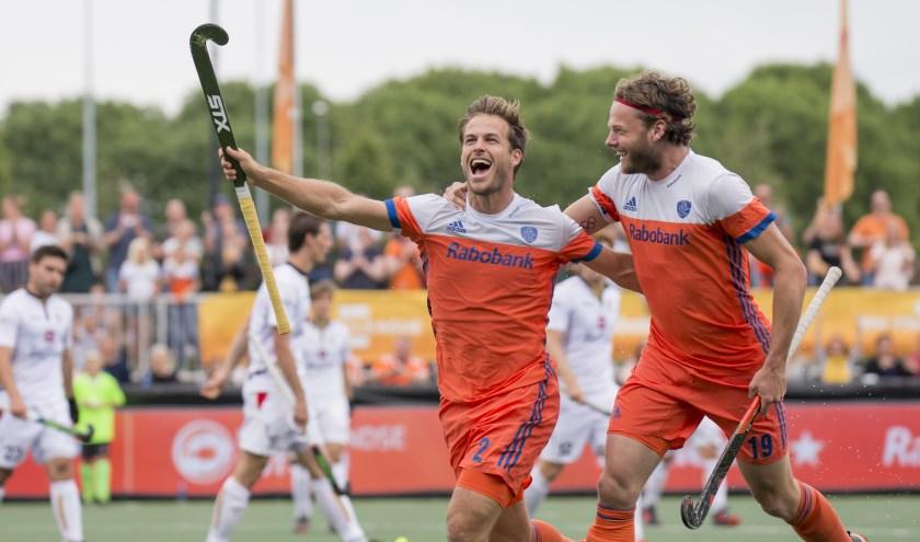 Jeroen Hertzberger is een vaste waarde in Oranje. Tegen België scoorde hij vorig jaar 4-2 in Den Bosch. (Foto: Bob de Voogd/Orange Pictures)