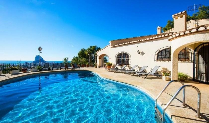 Vakantiehuis met zeezicht.