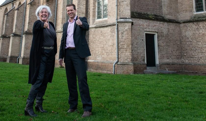 Tatjana Bieze (Inner Wheel Epe) en Marcel Langevoort (Rotary Epe) hebben er zin in: You've Got Talent en het Nieuwjaarsconcert zijn aanstaande.