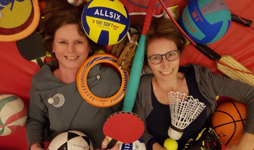 Brigit en Ingeberte hebben zin in sport, spel én afwisseling
