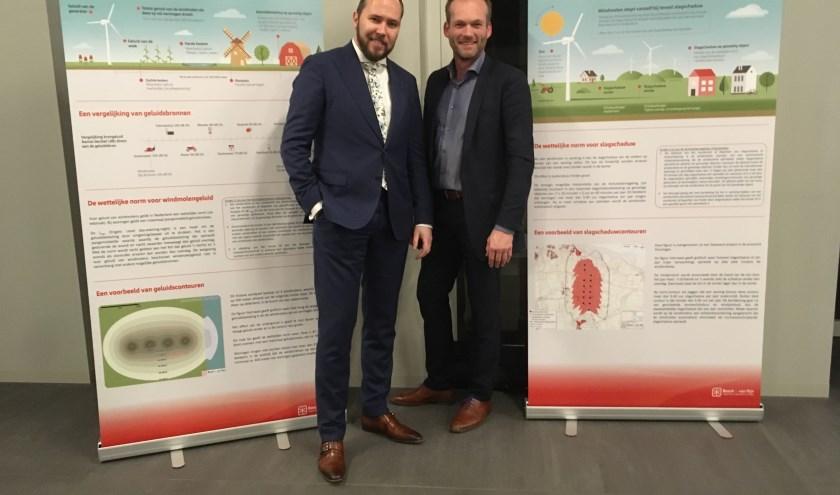 Oscar van Leeuwen en Walter Gerritsen zijn de wethouders die bij grootschalige energieopwekking zijn betrokken. (foto: Karin van der Velden)