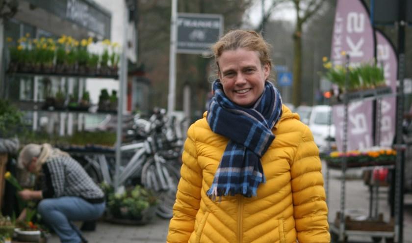 Judith van Vree op de plek van de Heelsumse avondmarkt. Foto: Kees Jansen