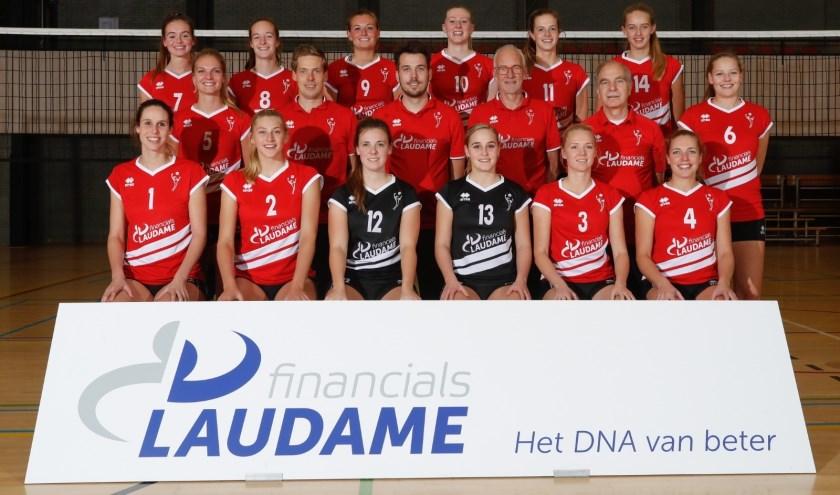 Volleybalsters van Laudame Financials VCN Dames 1