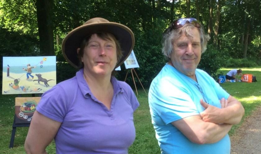 Jacqueline en Hans Beringen tijdens ode aan de Linge in Geldermalsen