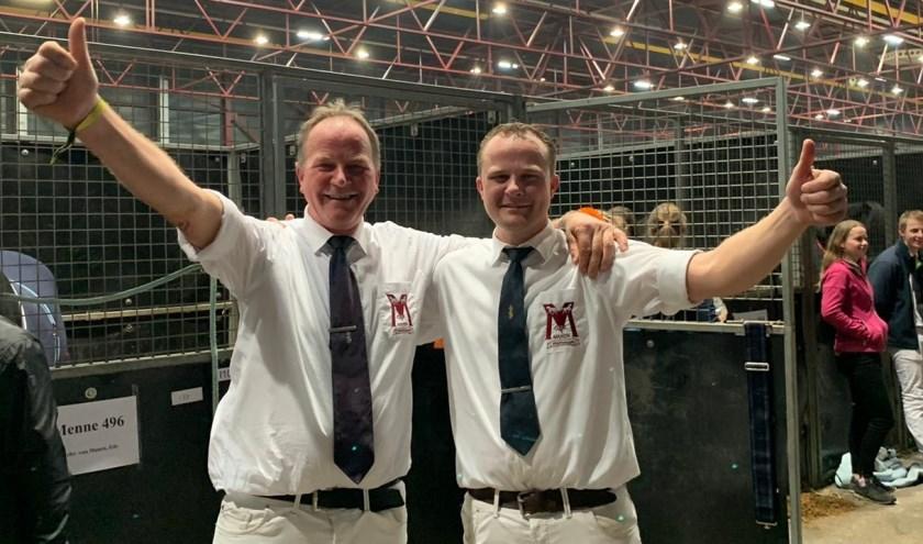 Gebroeders Jan en Hennie van Manen uit de Kraats.