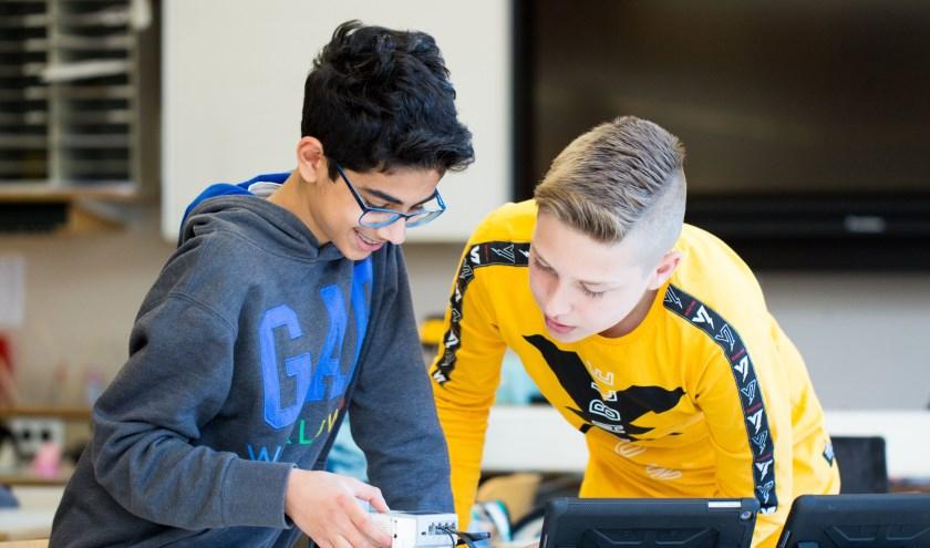 Tijdens de open dagen kunnen de leerlingen ook zelf deelnemen aan lesactiviteiten. (foto: Alfred Bakker)
