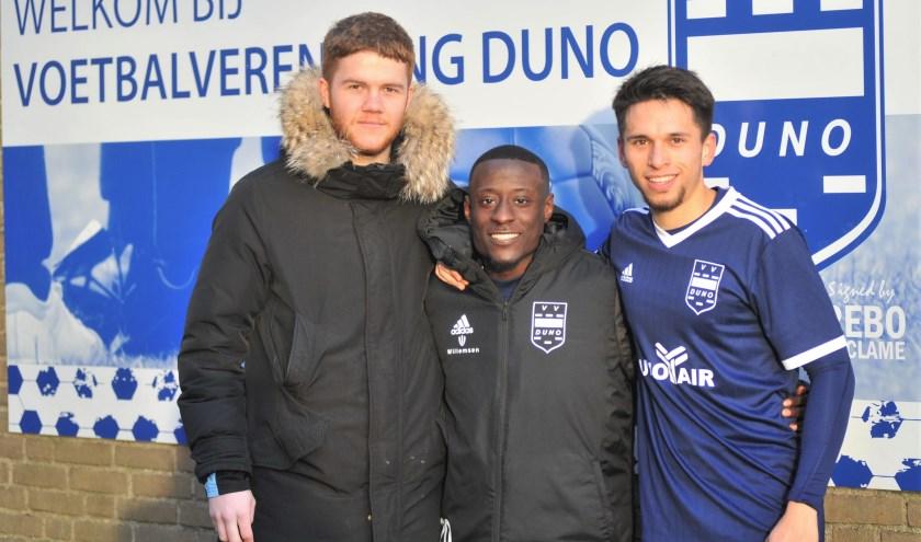Het nieuwe trio, Niels Willems, Jean Willy Mapinga en Kenny Elders, dat Duno vlot moet trekken. Foto: gertbudding.nl