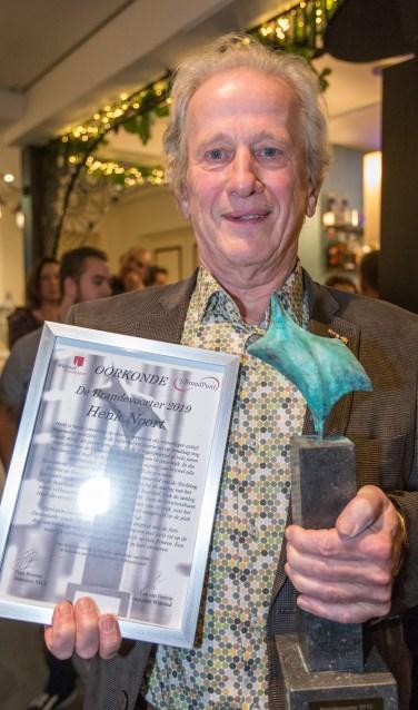 Henk Noort is Brandevoorter van het Jaar 2019. Foto: Jan Dijstelbloem.