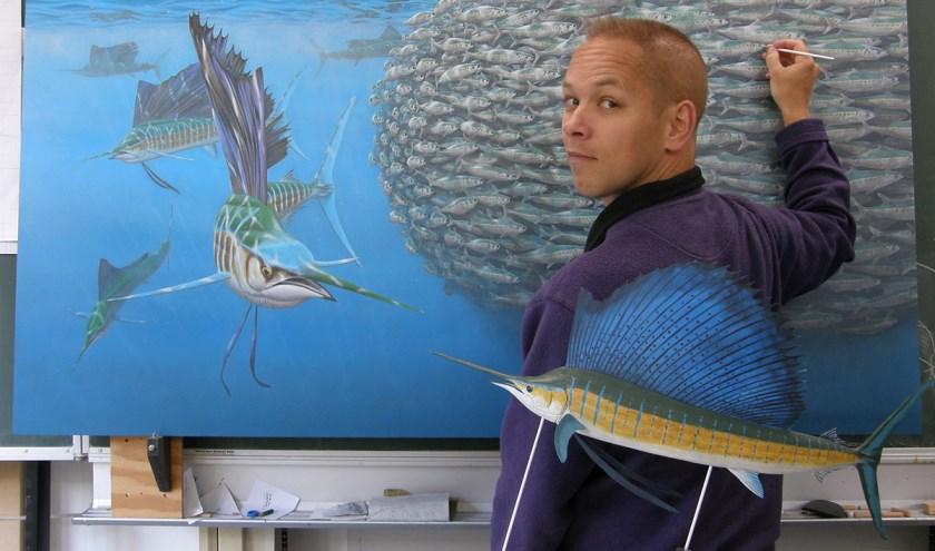 Vlaardingse Natuurkunstenaar Jeroen Verhoeff.