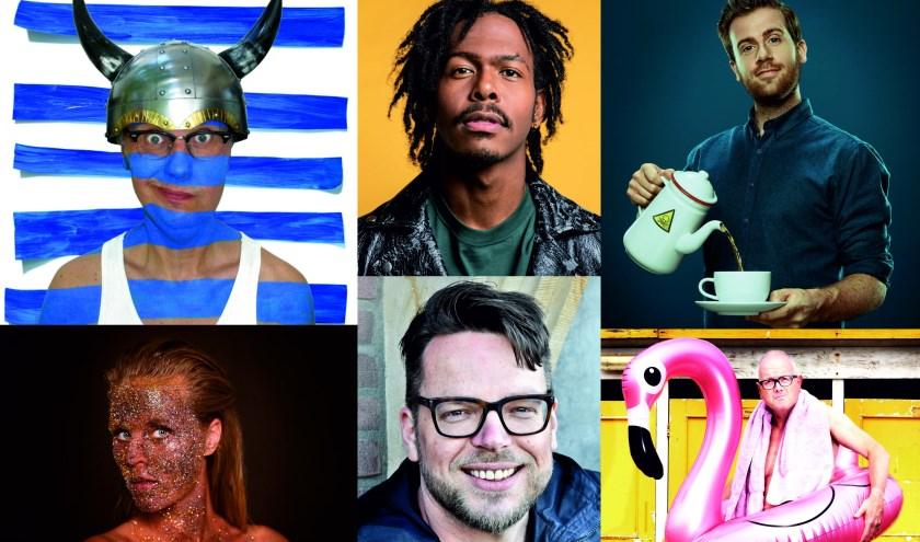 Vijf cabaretiers en één muzikale noot in 1 voorstelling