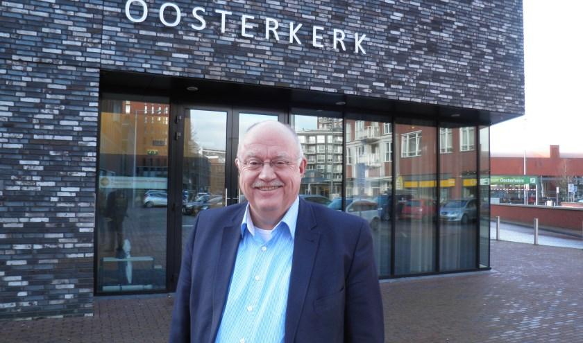 Dominee Evert van den Ham van de Hervormde Wijkgemeente Oosterkerk in Oosterheem gaat met pensioen. Foto Kees van Rongen