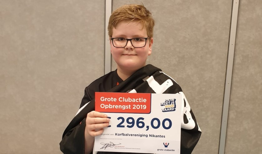 Pieter Stout beste lotenverkoper Grote Club Actie 2019