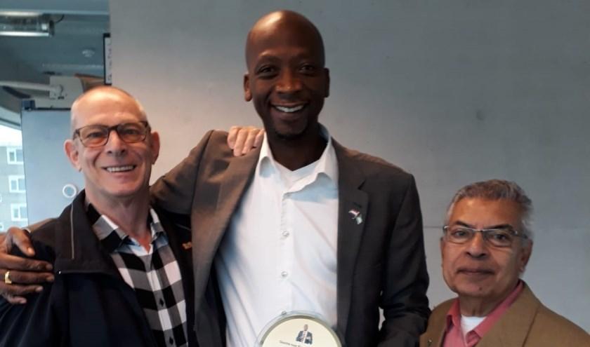 van links naar rechts: Arnold van der Heijde, Maikel Pierau en Ram Rambaratsingh.